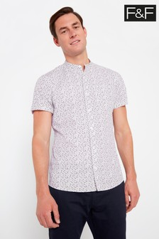 F&F White Floral Shirt