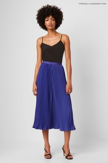 French Connection Crepe Pleated Midi Skirt