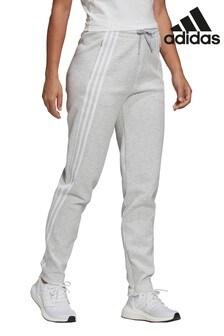 adidas Grey 3 Stripe Joggers