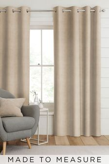 Otto Latte Natural Made To Measure Curtains