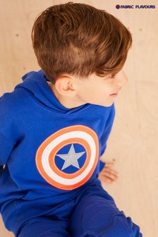 Fabric Flavours Blue Marvel® Avengers Captain America Neon Shield Hoodie