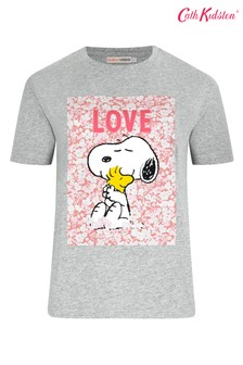Cath Kidston® Snoopy Grey Placement T-Shirt