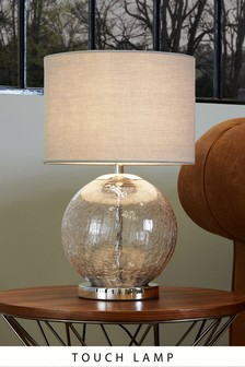 Crackle Touch Table Lamp