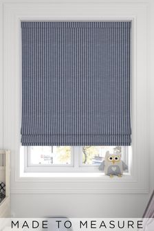 Nestor Navy Blue Made To Measure Roman Blind