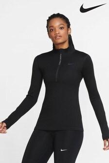 Nike Pro Warm 1/2 Zip Sweat Top