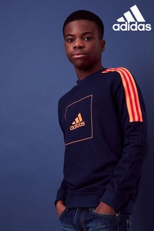 adidas Navy/Red Athletic Club Crew Sweater