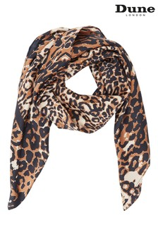 Dune London Lea Leopard Silk Scarf