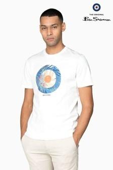 Ben Sherman Main Line White Tropical Target T-Shirt