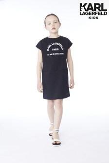Karl Lagerfeld Kids Black Logo Dress