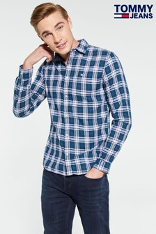 Tommy Jeans Essential Blue Brushed Shirt