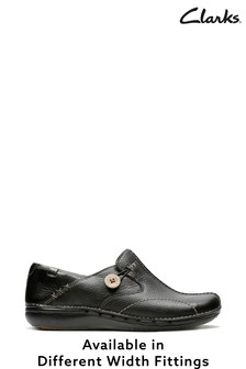 Clarks Black Un Loop Shoes