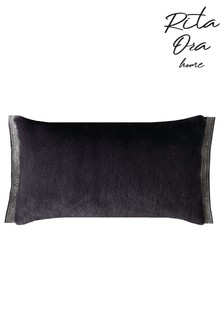 Rita Ora Emina Embellished Faux Fur Cushion