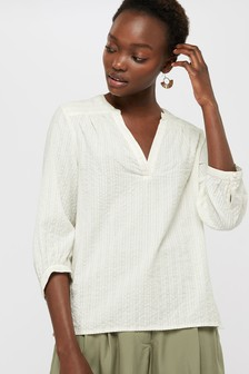 Monsoon Cream Eloise Shimmer Top