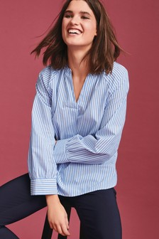 Cotton Poplin Overhead Shirt