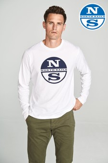 North Sails White Long Sleeve Graphic T-Shirt