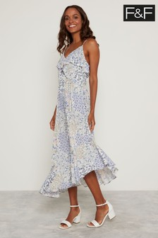 F&F Blue Lilly Ruffle Dress