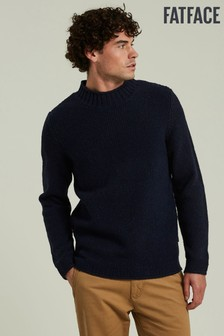 FatFace Blue Glencoe Turtle Neck Jumper