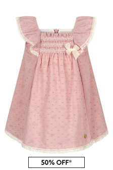 Paz Rodriguez Baby Girls Pink Cotton Dress