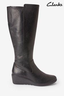 Clarks Black Un Tallara Esa Boots