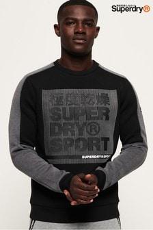 Superdry Gym Tech Colourblock Crew Sweatshirt