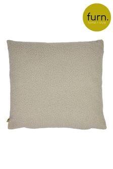 Furn Brown Malham So Soft Shearling Fleece Cushion