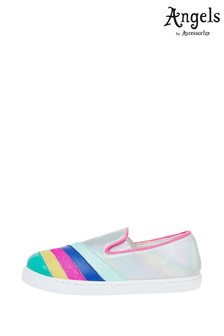 Angels by Accessorize Multi Rainbow Stripe Shoes