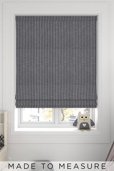 Nestor Slate Black Made To Measure Roman Blind