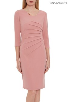 Gina Bacconi Pink Ellis Scuba Crepe Dress