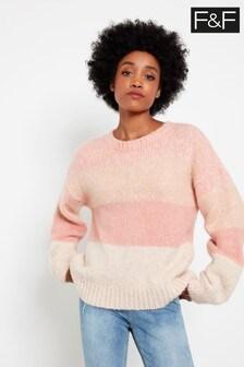 F&F Pink Stripe Jumper