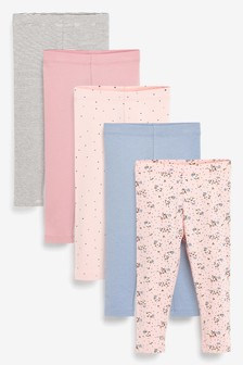 5 Pack Pretty Leggings (3mths-7yrs)