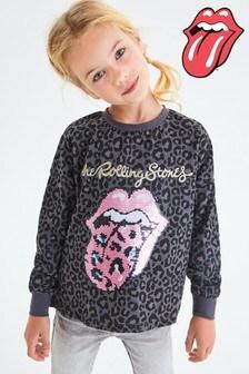 Flippy Sequin Animal Rolling Stones Sweater (3-16yrs)