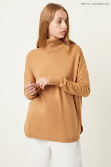 French Connection Natural Ribbed Jumper
