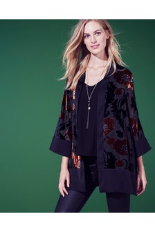 Kimono mit Ausbrennermuster