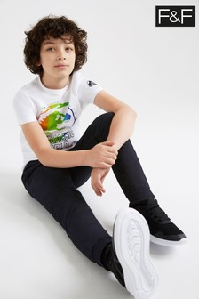 F&F Kids Black Lined Trousers