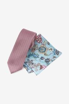 Floral Pocket Square and Tie Set
