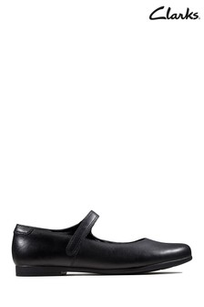Clarks Black Scala Pure Y Shoes