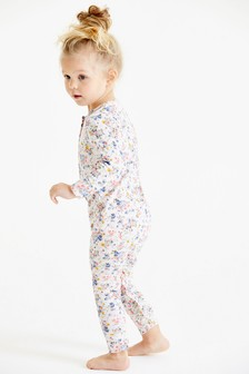 Floral Print Jersey Sleepsuit (9mths-8yrs)