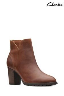 Clarks Tan Verona Trish Boots