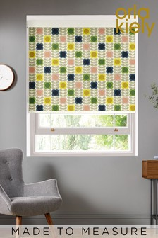 Summer Flower Stem Multi Cream Made To Measure Roller Blind by Orla Kiely