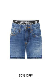 Calvin Klein Jeans Boys Blue Shorts