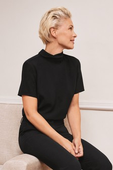 Emma Willis Tie Back Short Sleeve Top
