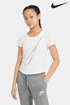 Nike White Victory Swoosh T-Shirt