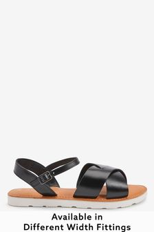 Forever Comfort® Leather Sporty Sole Sandals
