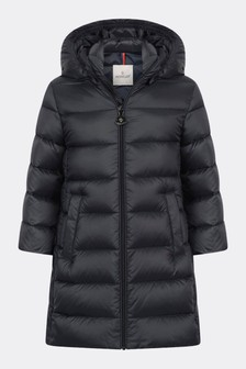 Baby Girls Navy Down Padded Majeure Coat