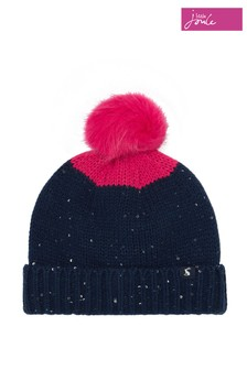 Joules Blue Bobble Knitted Hat