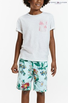 Tommy Hilfiger Blue Summer Print Resort Shorts