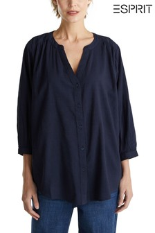 Esprit Blue Back Detail Blouse