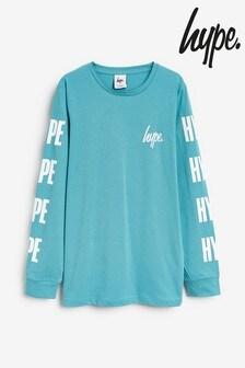 Hype. Langärmeliges T-Shirt mit Logo