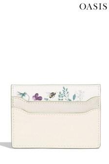 Oasis Natural Floral Print Card Holder