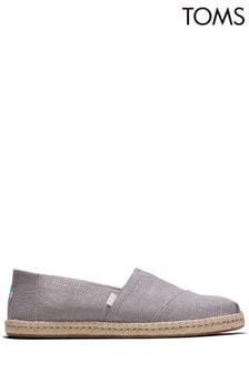 TOMS Dove Grey Linen Espadrilles